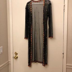 Full sleeve mesh scrub with embellished details